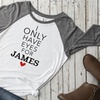 Up to 52% Off Personalized Love Themed Ladies Raglan Shirts