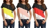 Women's Colour Block T-Shirt
