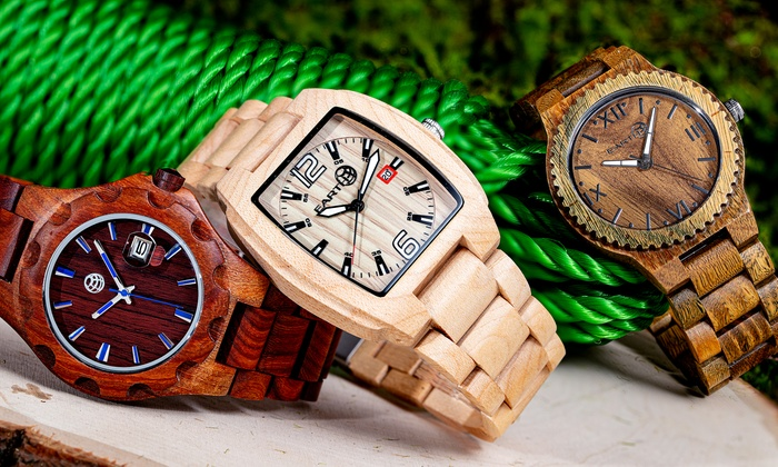Earth Wood Sagano, Gila or Bighorn Bracelet Watch With Free Delivery