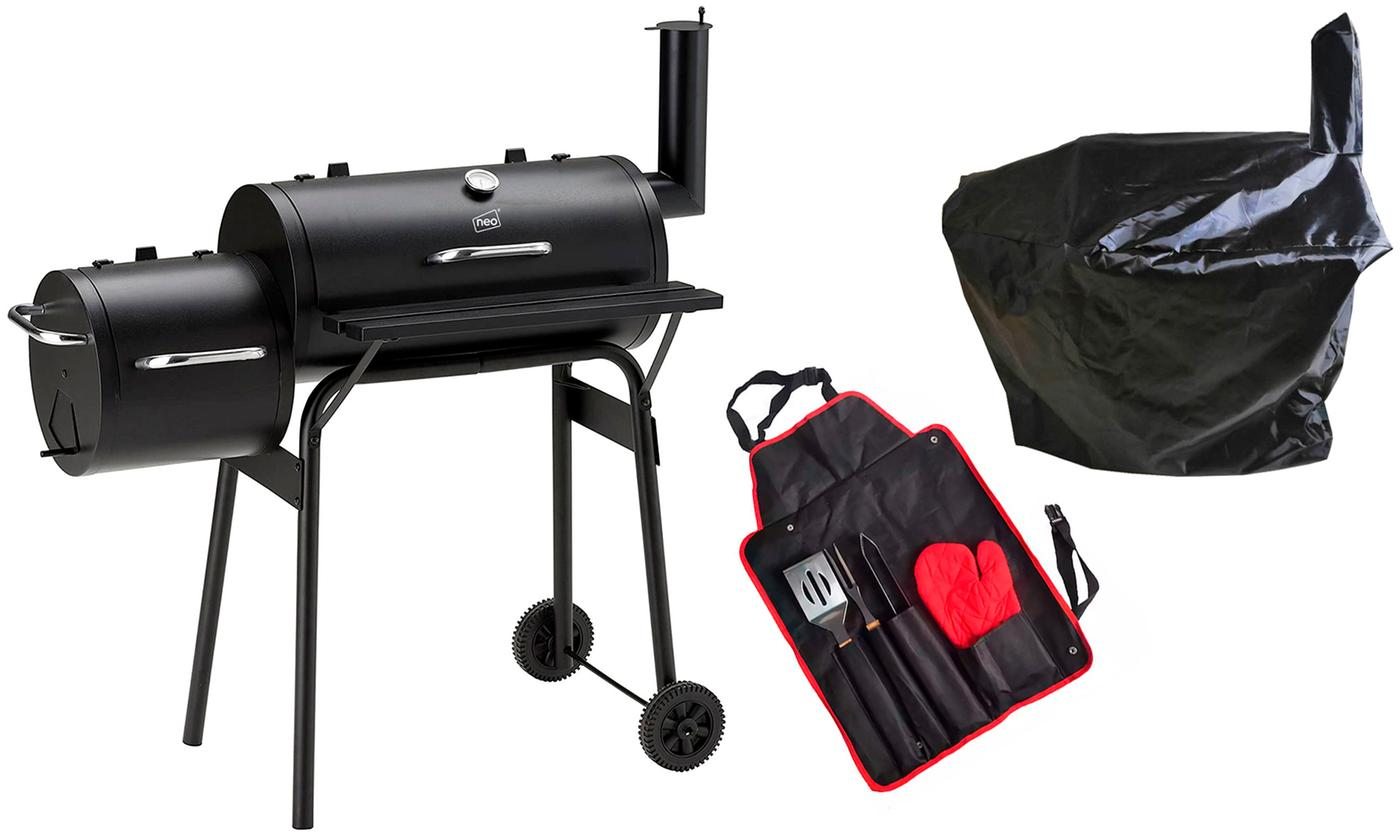 Barrel Smoker and Grill with Cover, Toolkit or Offset Smoker With Free Delivery