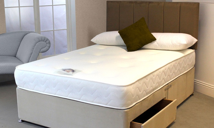 Groupon Goods Global GmbH: Monaco Cool Blue Memory Sprung Mattress from €99.99 (Up to 71% Off) With Free Delivery