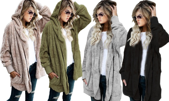 One or Two Women's Teddy-Hooded Jackets from £15.98