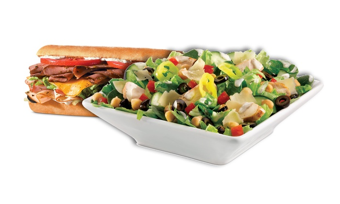 Quizno's- downtown Houston - Multiple Locations: Two or Four Regular Sandwiches or Regular Salads at Quizno's (45% Off)