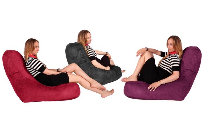Miraculous Suede Lounge Lizard Beanbag Groupon Goods Andrewgaddart Wooden Chair Designs For Living Room Andrewgaddartcom