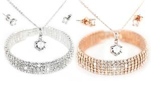Parure de bijoux Polaris ornés de cristaux Swarovski®