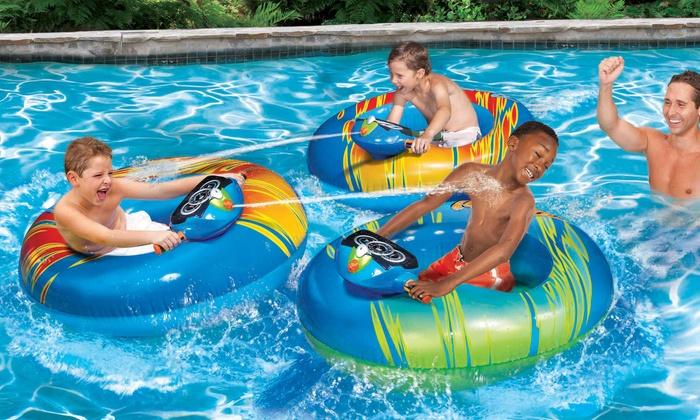 Banzai Inflatable Motorized Bumper Boat Groupon