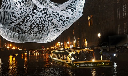 Amsterdam Light Festival: luxe boottour van 75 min. incl. drankjes met Amsterdam Circle Line