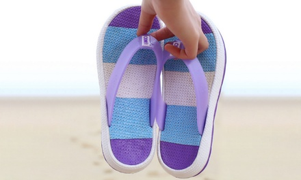Striped ThickSoled Beach Slippers