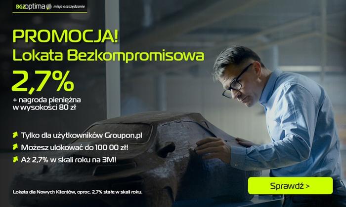 """Bank BGŻ BNP Paribas S.A.: 5 zł za groupon upoważniający do udziału w promocji """"Bezkompromisowy Bonus"""" i otrzymania nagrody w wysokości 80 zł"""