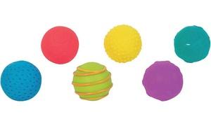 6 balles texturées pour bébé