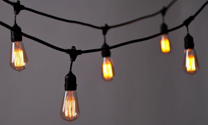 String Lights Vistaprint : Weatherproof Heavy-Duty Vintage Outdoor Edison String Lights Groupon