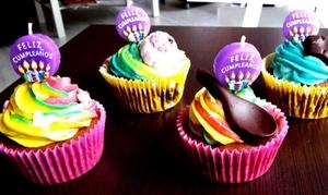The Cupcake House & Café: 12 o 24 cupcakes artesanales de distintos sabores y temáticas desde 10,95 € en The Cupcake House & Café