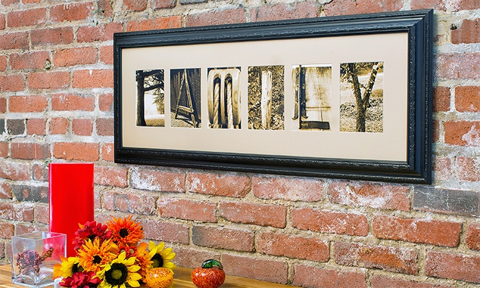 Frame The Alphabet: CC$59 for CC$135 Worth of Custom Letter Art from Frame the Alphabet