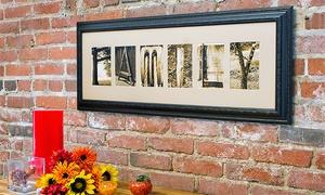 Frame The Alphabet: CCC$59 for CCC$135 Worth of Custom Letter Art from Frame the Alphabet