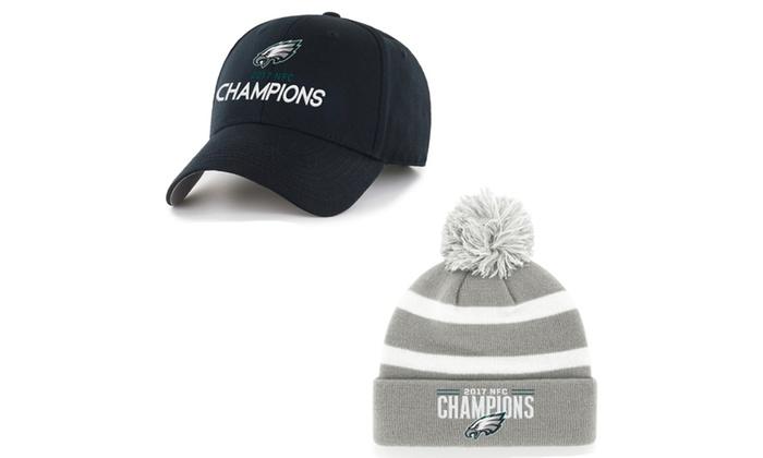4b5a771c3fcb3 Philadelphia Eagles 2018 NFL NFC Conference Championship Hat or Beanie