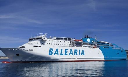 Cupón dto. 50% para ferry desde Barcelona-Mallorca-Barcelona y opción con moto o coche a bordo desde 5,95€ con Baleària