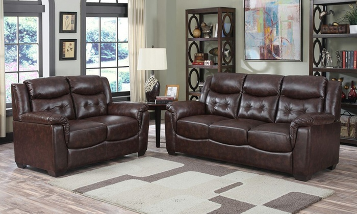 Burlington 3+2 Leather Sofa Set