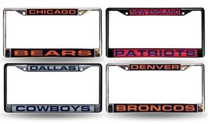 Rico Industries NFL Laser Cut Chrome License Plate Frame