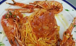 Ristorante Il Volo: Menu di pesce con calice di vino per 2 o 4 persone al Ristorante Il Volo (sconto fino a 74%)