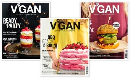 4 nummers V'gan Lifestyle Magazine, het abonnement stopt automatisch