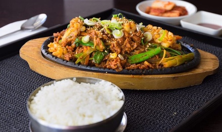 Sizzling Korean BBQ with Drinks for 1 ($25), 2 ($39) or 4 People ($79) at B One Korean Restaurant (Up to $173.90 Value)