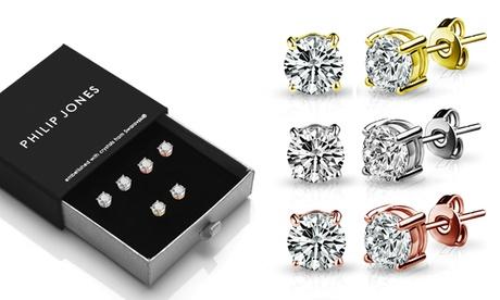 Pendientes de plata adornados con cristales de Swarovski®