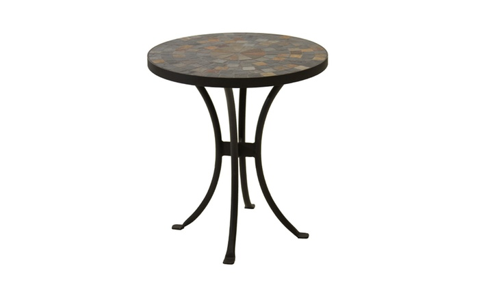 Round Slate Mosaic Accent Table Groupon Goods
