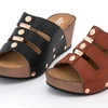 Lady Godiva Women's Strappy Wedge Sandals