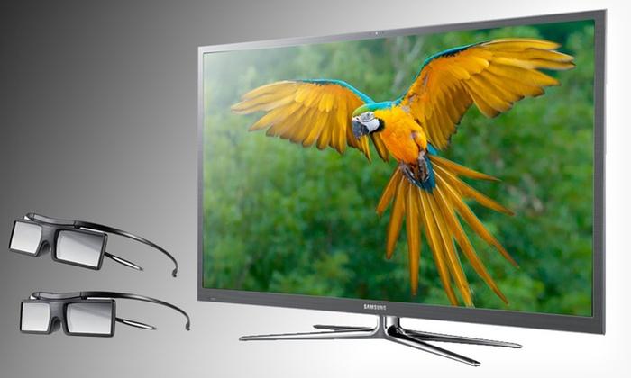 "Samsung 64"" Smart 3D 8000 Series Plasma HDTV: $1,999.99 for a Samsung 64-Inch Class Plasma 8000 Series Smart HDTV ($3,599.98 List Price). Free Shipping."