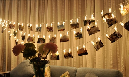 One, Two, or Three Strings of LED Peg Clip Lights from AED 55