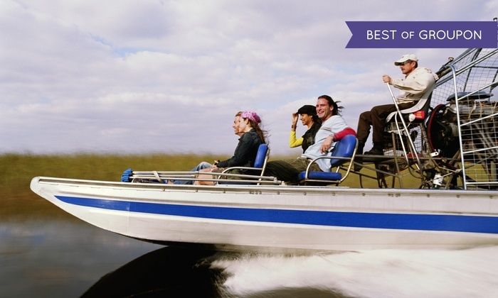 A Ultimate Airboats & Eco Tours - St. Cloud: 90-Minute Airboat Tour and Eco Safari for One, Two, or Four at Orlando Swamp Tours (Up to 45% Off)