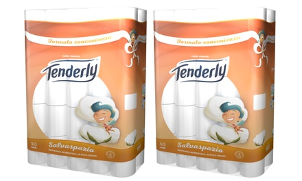 50 of 100 rollen toiletpapier