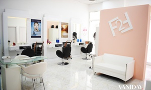Face2Face Beauty Salon: Blow-Dry Plus Optional Wash, Cut and Full-Face Threading at Face2Face Beauty Salon