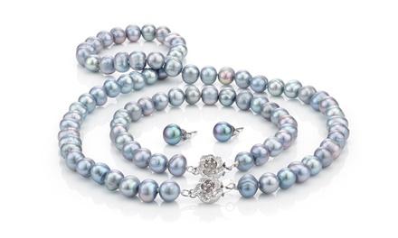 Parure di perle d'acqua dolce