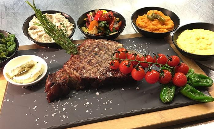 US T-Bone-Steak mit Beilage, Sauce und Crème brûlée für zwei o. vierPersonen im Beef Grill Club by Hasir (25% sparen*)