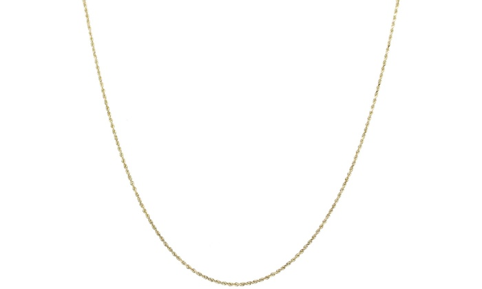 14K Gold 8MM Rope Chain Necklace By Moricci