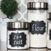 Black Chalkboard Jar Stickers