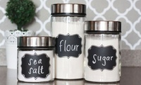 Black Chalkboard Jar Stickers from AED 39 (Up to 80% Off)
