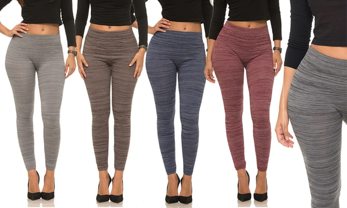 62f99899f6fb5b Coco Limon Women's Fleece-Lined Leggings (5-Pack)