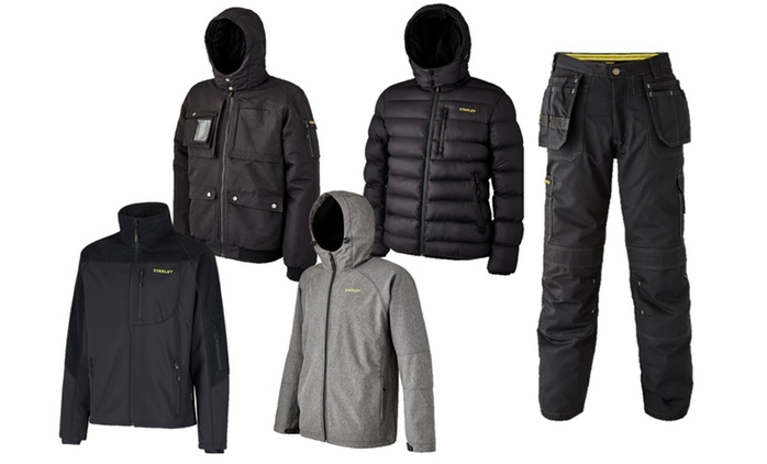 Men's Stanley Workwear Trousers or Jackets from €18.99 With Free Delivery