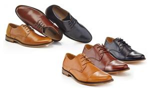 Franco Vanucci Men's Plain-Toe or Cap-Toe Dress Shoes
