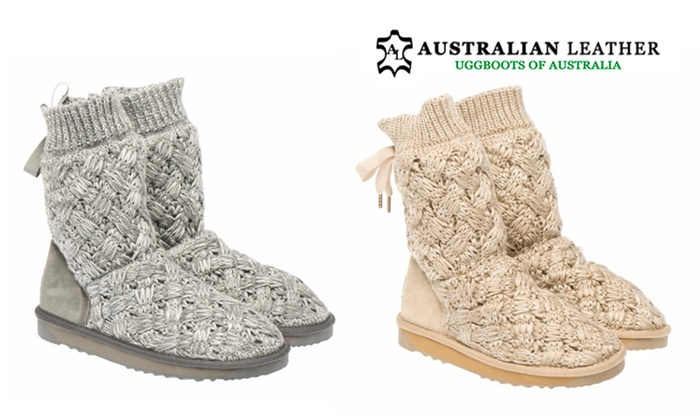 Women s Knitted Ugg Boots  6b04becee2