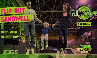 image for One-Hour Trampoline Jumping for Up to Four at Flip Out Birmingham (Up to 33% Off)