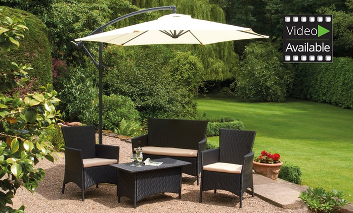 Cantilever Parasol in a Choice of Colour With Optional Cover