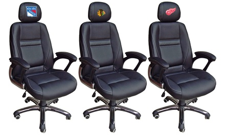 NHL Head Coach Leather Office Chair