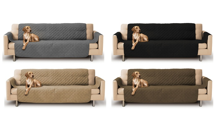 Micro Suede Quilted Sofa Cover Groupon