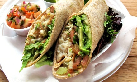 Casual Mediterranean Food at Pita Grill (50% Off). Three Options Available.