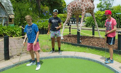 18 Holes of Safari or T-Rex Mini Golf - One ($8), Two ($16) or Six People ($48) at Liliputt Mini Golf (Up to $90 Value)