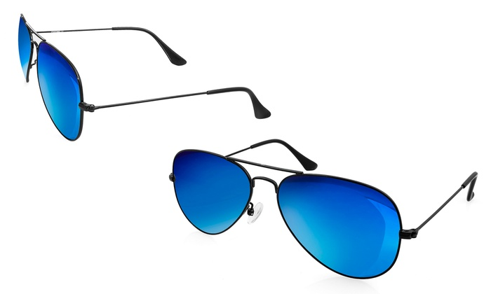 Aqs Mirrored Sunglasses  aqs uni aviator sunglasses groupon goods