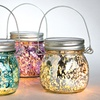 Clearance: Hanging Lighted Mercury Glass Jars (Set of 4)